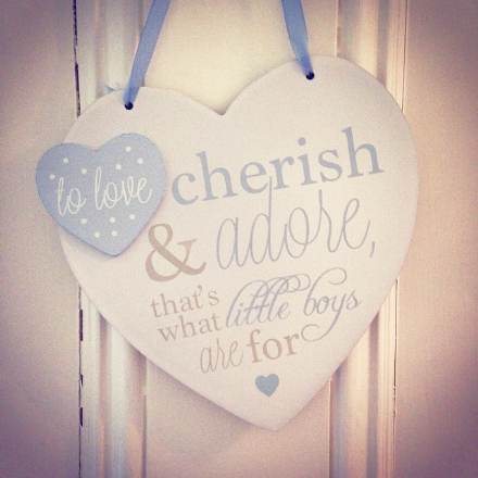 Baby Heart Plaques - Blue